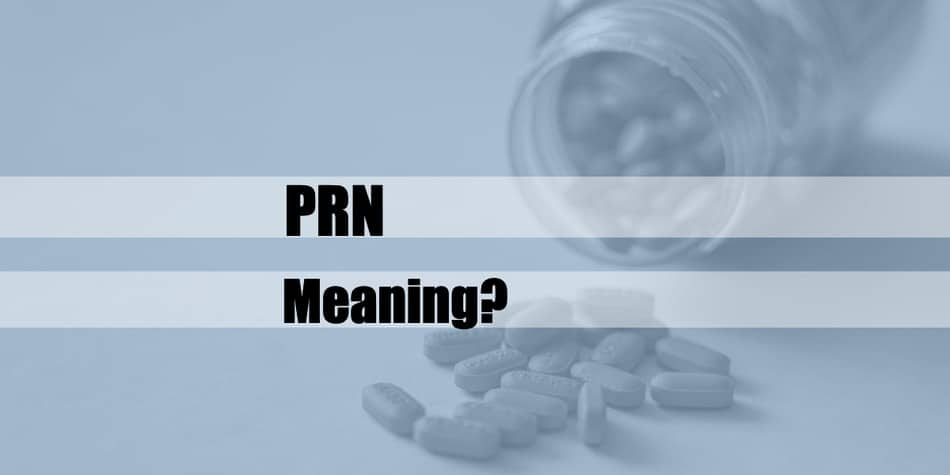 What does prn mean
