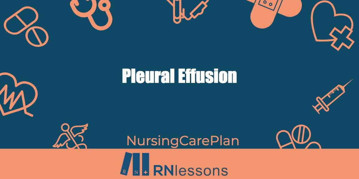 The words pleural effusion surrounded by healthcare related vector images
